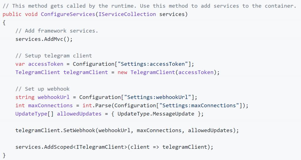 A Telegram Chat Bot Client written in c# – Mattias Andersson